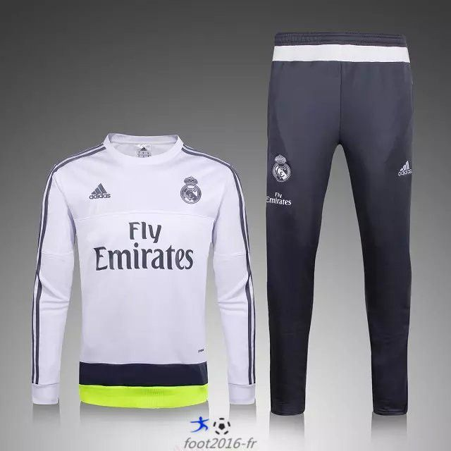 Blanc De 2015 Real Foot Survetement Madrid 2016 Nouveau Officiel dBroexC