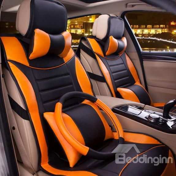 Super Cool Classic Colors Matching Pattern Car Seat Cover