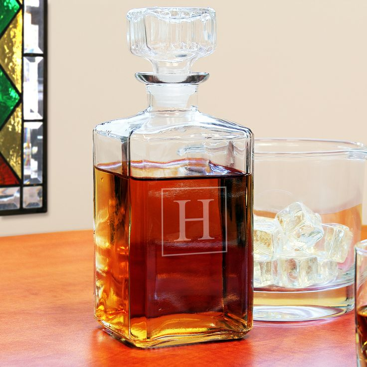 Custom Engraved Glass Decanter | Overstock.com Shopping - Great Deals on Decanters & Carafes