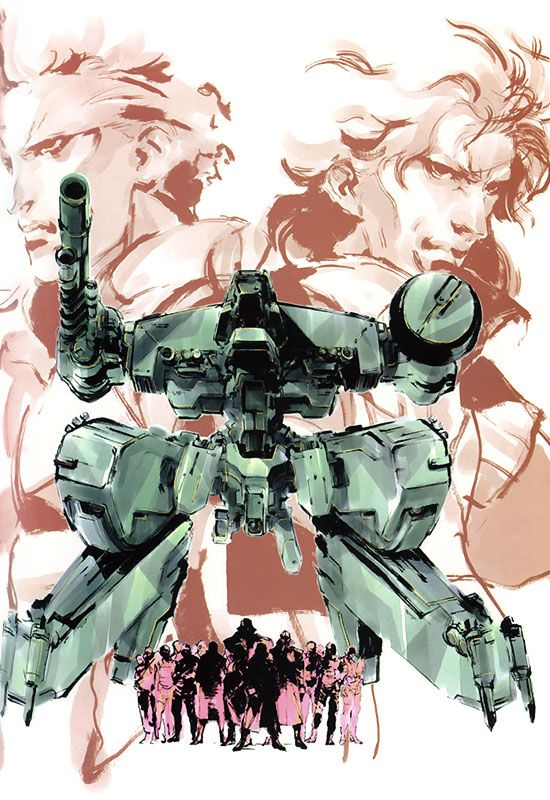MGS1. Metal Gear Cast. Yoji Shinkawa.