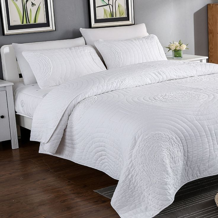 Cheap quilted bedspreads, Buy Quality cotton quilted bedspreads directly from China bedspreads beds Suppliers: 100% cotton quilting Bedding Set 3pcs Air conditioning quilt American  jacquard style Queen or King Size