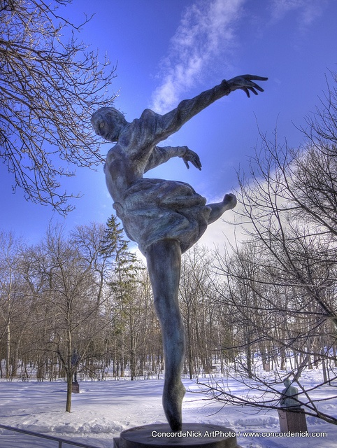 """Rusalka"", Leo Mol Ballerina, Leo Mol Sculpture Garden, Assiniboine Park, Winnipeg Manitoba Canada"