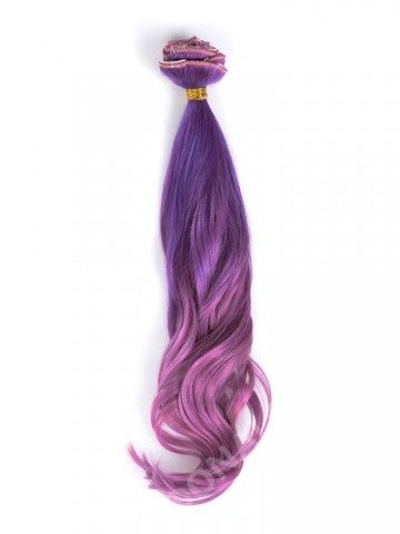 Lila Mermaid Bunte Clip In Hair Extensions CD018 - CLIP IN - DonaLoveHair