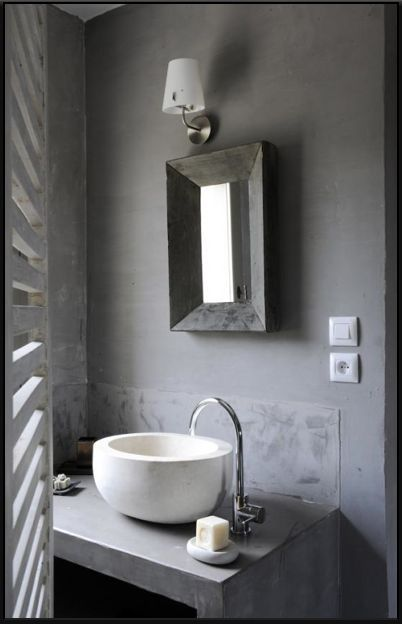 Concrete Powder Room Can Be Created @ www.fullcircledesignstudio.com