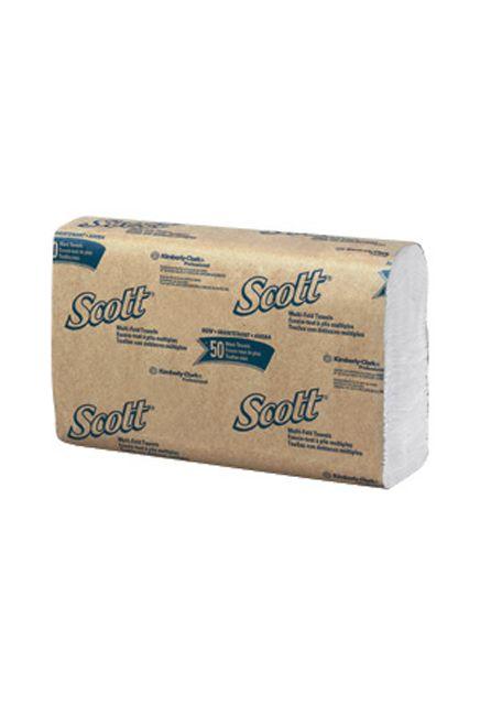 Scott, Essuie-mains à plis multiples blanc