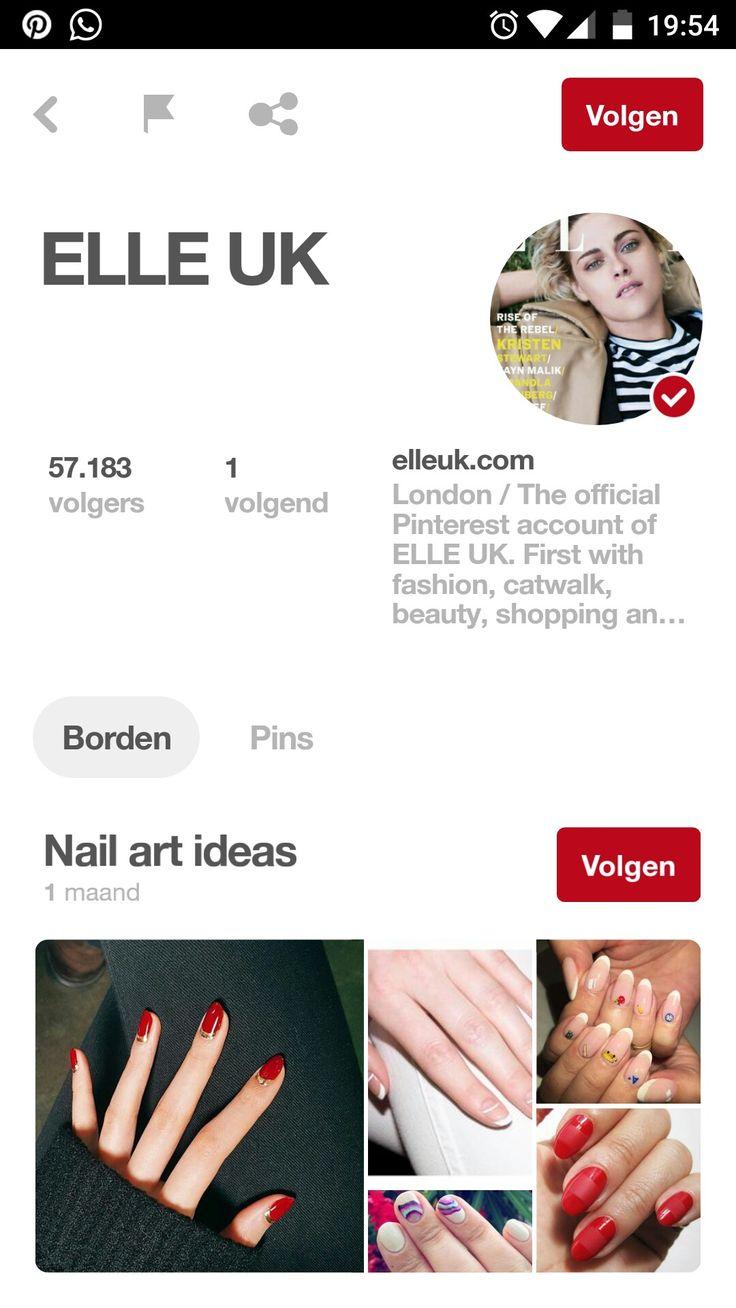 De Elle gebruikt pinterest om zijn volgers up-to-date te houden met de laatste modegrillen en beautytips. Zo houden ze hun volgers ook verzadigd tot de volgende uitgave van het tijdschrift.