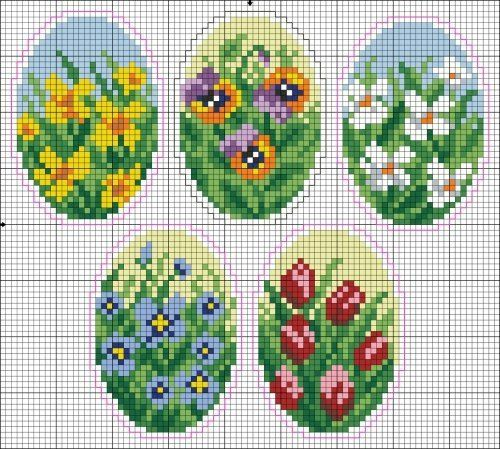 fleur - flower - point de croix - cross stitch - Blog : http://broderiemimie44.canalblog.com/