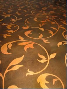Stencil Concrete- Modello Stencils Provide Numerous Options for Decorating Concrete Floors - The Concrete Network