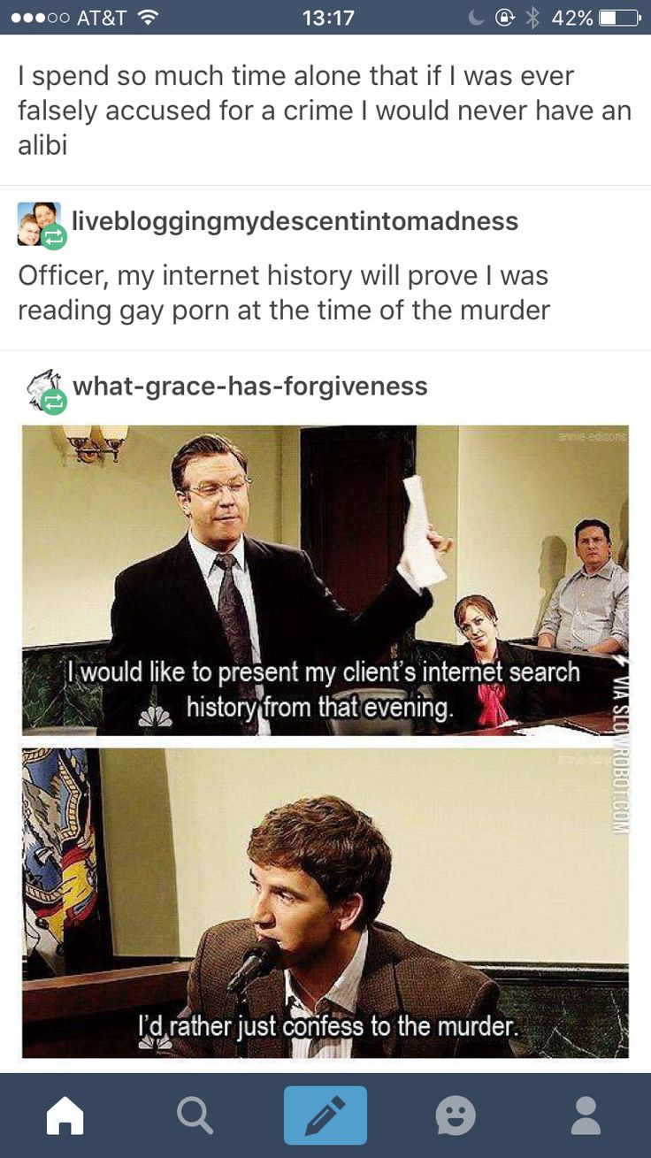 Internet browsing history reading gay porn alibi murder I'd rather just confess to the murder