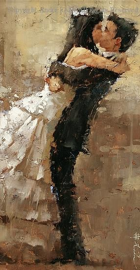 Just Married - Oil by Andre Kohn....cute idea to give or receive as a gift