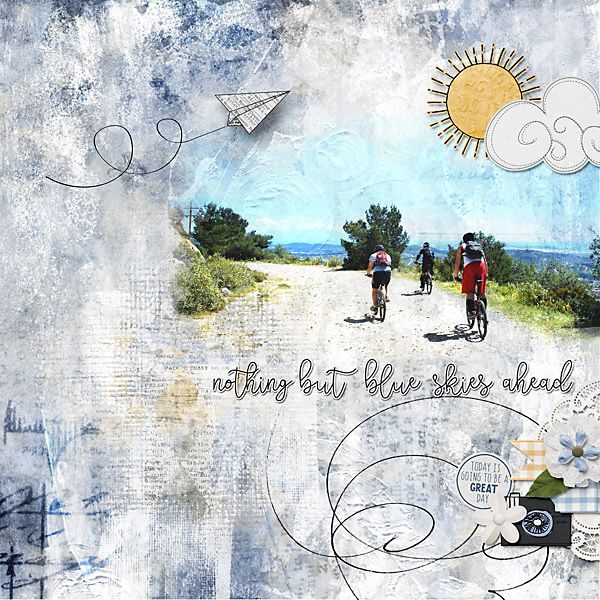 Created by Jill      Nothing but blue skies ahead      elements and artsy papers      http://bit.ly/CBJ-NBBSA