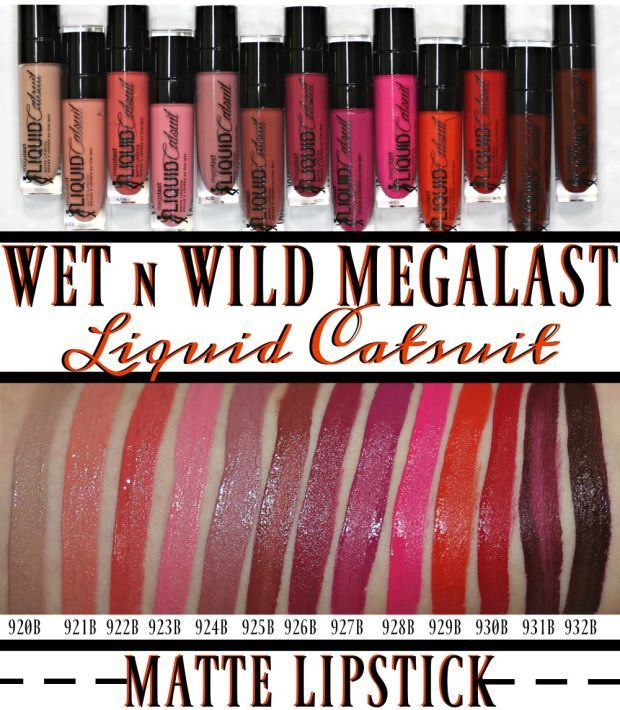 Wet N Wild MegaLast Liquid Catsuit Matte Lipstick Review & Swatches http://blushingnoir.com/beauty/wet-n-wild-megalast-liquid-catsuit-matte-lipstick-review-swatches #MakeupCafe