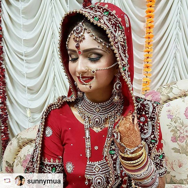 "#Rensta #Repost: @sunnymua via @renstapp ··· "" Sikh Wedding Makeup & Hair Design for the beautiful Dr Ashwin #bigfatsikhwedding #sikhweddings #dulhan #dulhanmehndi #dulhaniamag """