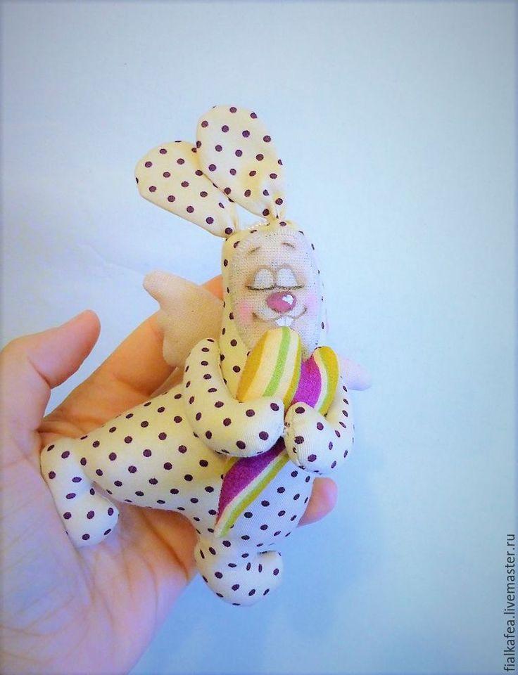 «Сердечный зайка» своими руками: мастер-класс - Ярмарка Мастеров - ручная работа, handmade
