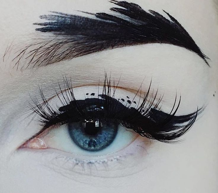 Eye makeup which is like a piece of art x