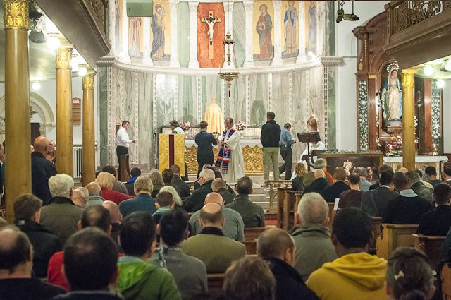 Religion, faith and spin...  Last Catholic Mass for gays at the UK's Church of Our Lady of the Assumption