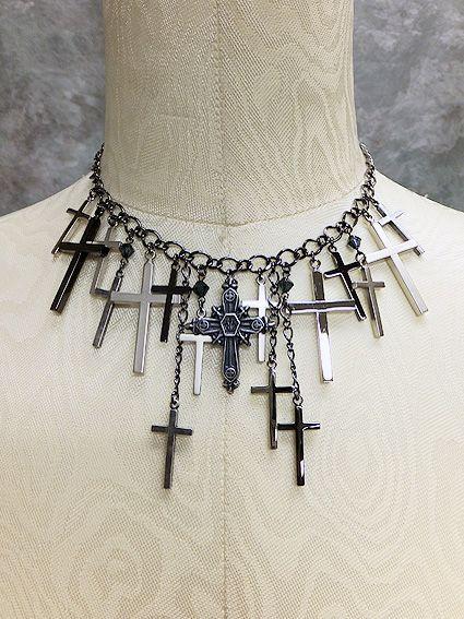 Moi-meme-Moitie M+Croix Cross Necklace