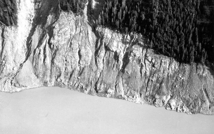 Lituya Bay trimline - 1958 Lituya Bay megatsunami - Wikipedia, the free encyclopedia
