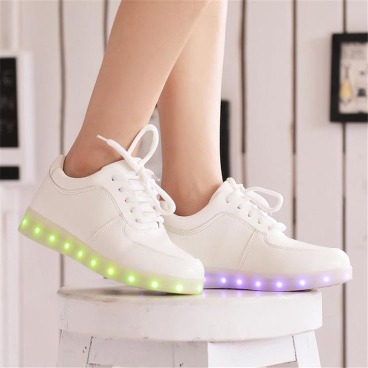Cheap led shoe laces, Buy Quality led moving display board directly from China shoes pick Suppliers: 2015 Women Colorful glowing sneakers with lights up led luminous shoes a new simulation sole led shoes for adults neon