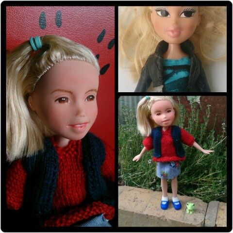 Kislany Rescue Dolls OOAK bratz upcycled made-under repaint handmade clothes