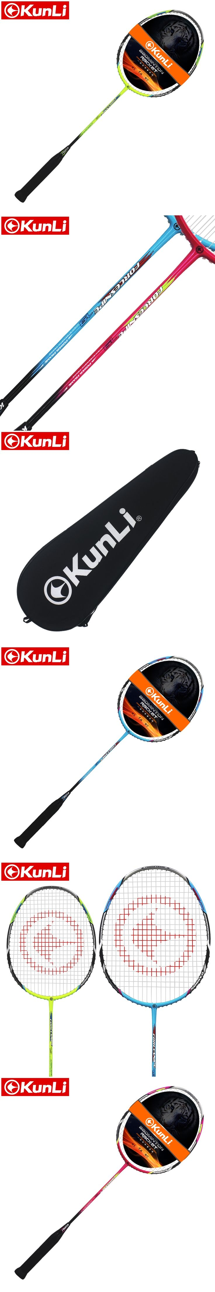 free shipping 100%original KUNLI badminton racket FORCE 79 full carbon professional TB NANO technology feather racket