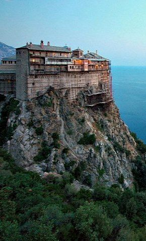 Monastery on Mount Athos, Greece   Check out myOCN.net, the largest Orthodox Christian website in the world, for more Orthodox Christian news!