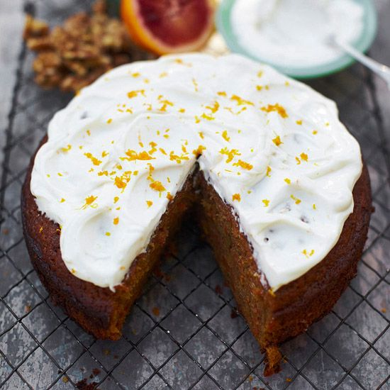 Carrot Cake.  From Jamie Oliver [& other pages of carrot cake recipes]