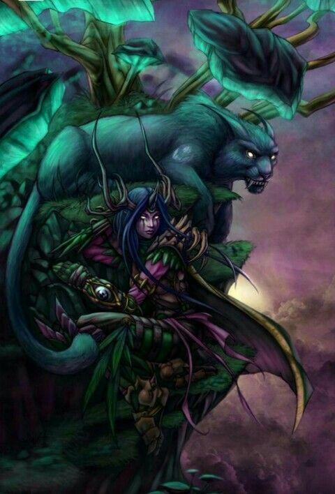 Wow Druid Tattoo Nature night el...