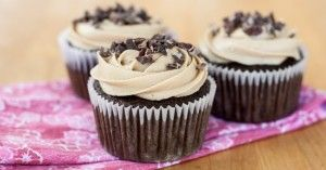 Kahlua Chocolate Cupcakes with Espresso Buttercream Frosting