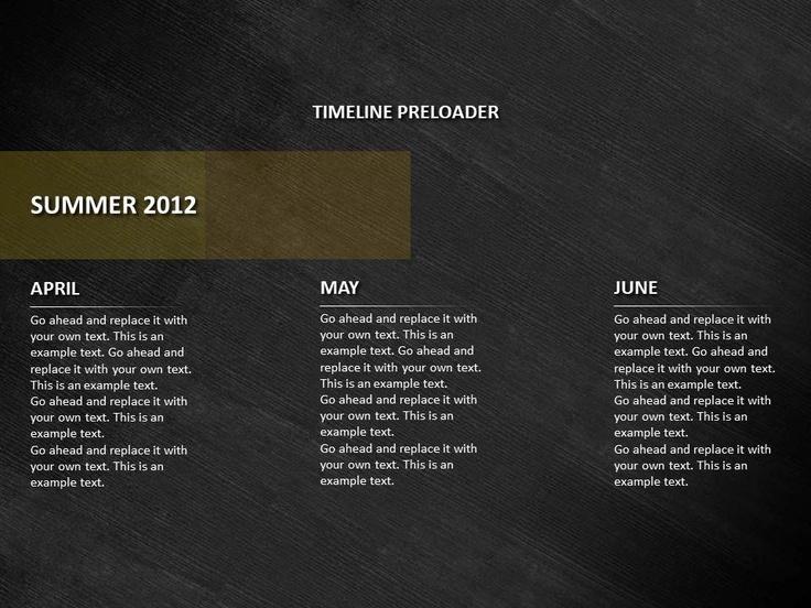 Ponad 25 pomysłów na czasie na temat Powerpoint timeline slide na - timeline templates