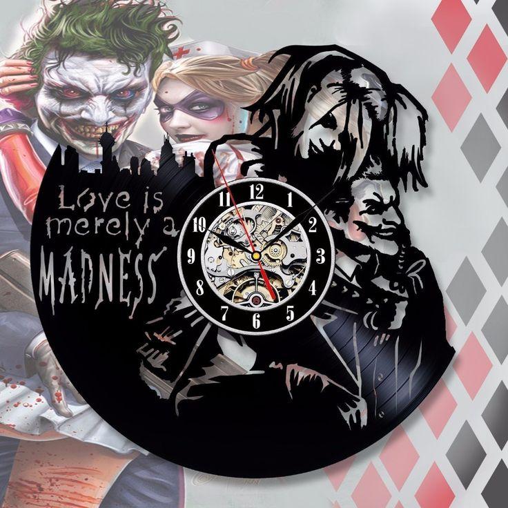 Harley Quinn Decal Love Joker Wall Clock //Price: $45.06 & FREE Shipping //     #harleyquinn #suicidesquad #loveharleyquinn #suicidesquad #squad #margotrobbie #harleenquinzel #jaredleto #joker #mrj #puddin #katana #deadshot
