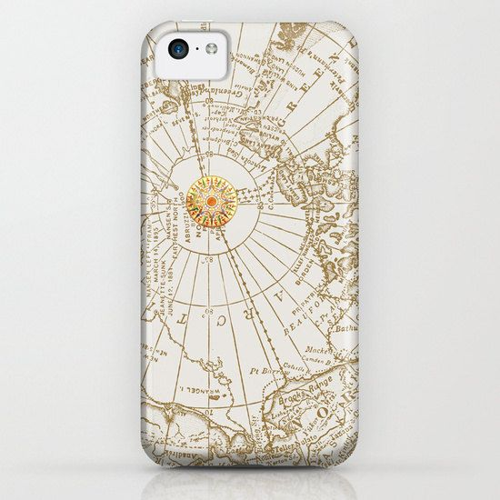 Give Me Direction phone case map with compass rose - so pretty!