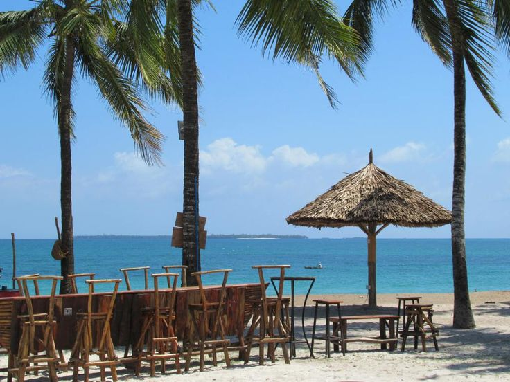 Kunjito Bar is a popular hangout on South Beach near Dar es Salaam, Tanzania.