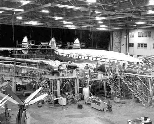 PAA Connie at Lockheed Burbank Plant