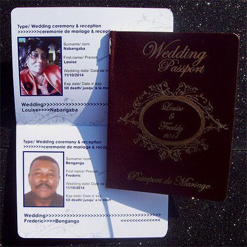 Ref Fancy scroll Wedding Passport ( we can do any colour) www.weddingcards.co.za