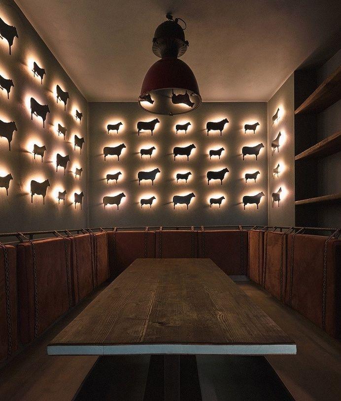 Gran fierro argentinian restaurant prague meat food beautiful design interior industrial designer modern inspiration by mindsparklemag www.m in Interior design