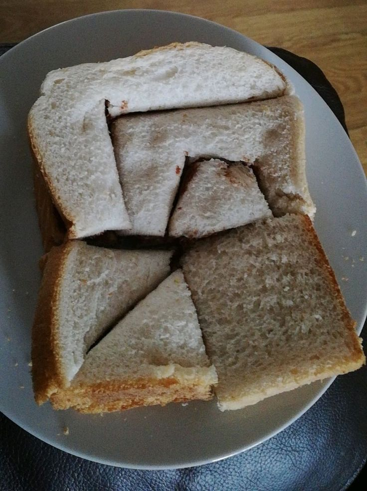 My girlfriend likes to cut my sandwiches into weird shapes just to watch me suffer. https://i.redd.it/cw8z7cqns6j01.jpg