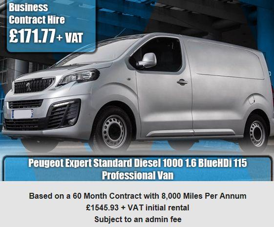 Peugeot Expert Standard Diesel 1000 1.6 BlueHDi 115 Professional Van