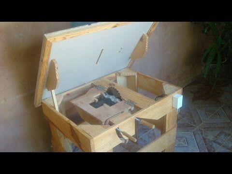 Serra circular de bancada artesanal ( Homemade table saw ) - YouTube