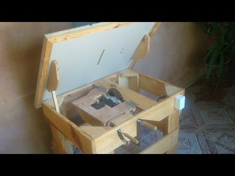 Serra circular de bancada artesanal ( Homemade table saw ) - YouTube