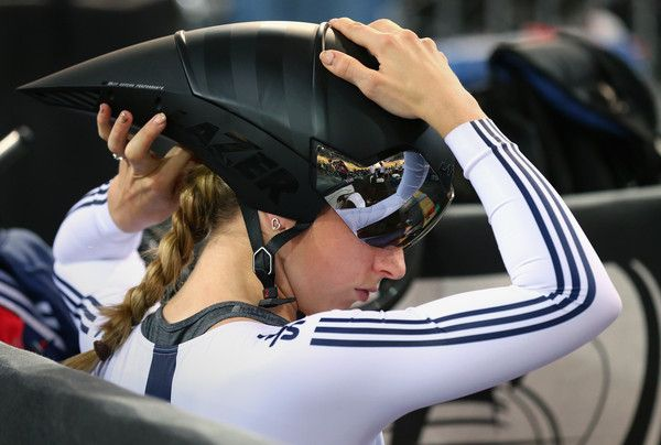 Laura Trott Photos - Laura Trott of the Great Britain Cycling Team wpreparws for the start of the Women's Omnium 500m Time Trial during Day Five of…