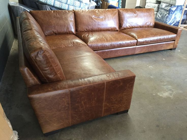 Our customer in Vancouver Washington is surely enjoying this beautiful Braxton Leather L Sectional. : leather sectional - Sectionals, Sofas & Couches