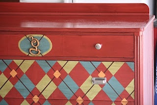 argle painted changing table