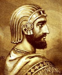 CYRUS THE GREAT. In 539 B.C., the armies of Cyrus the Great, the first king of ancient Persia, conquered the city of Babylon. But it was his next actions that marked a major advance for Man. He freed the slaves, declared that all people had the right to choose their own religion, and established racial equality.