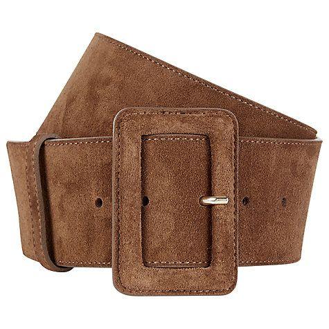 Buy Hobbs Louise Wide Leather Belt Online at johnlewis.com