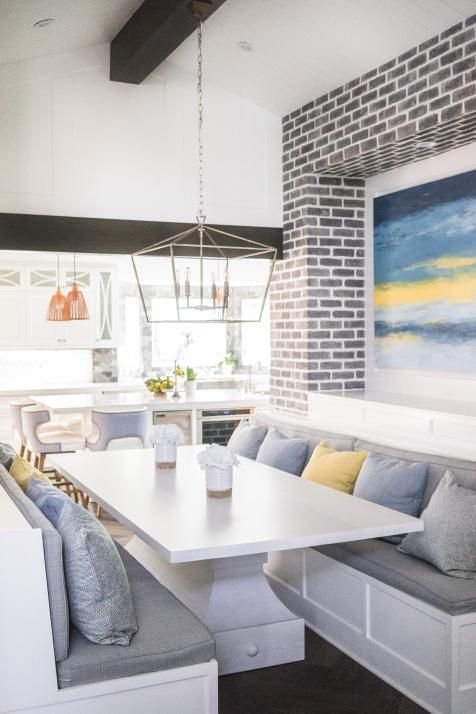 Breakfast Nook With Built In Benches With Images Breakfast