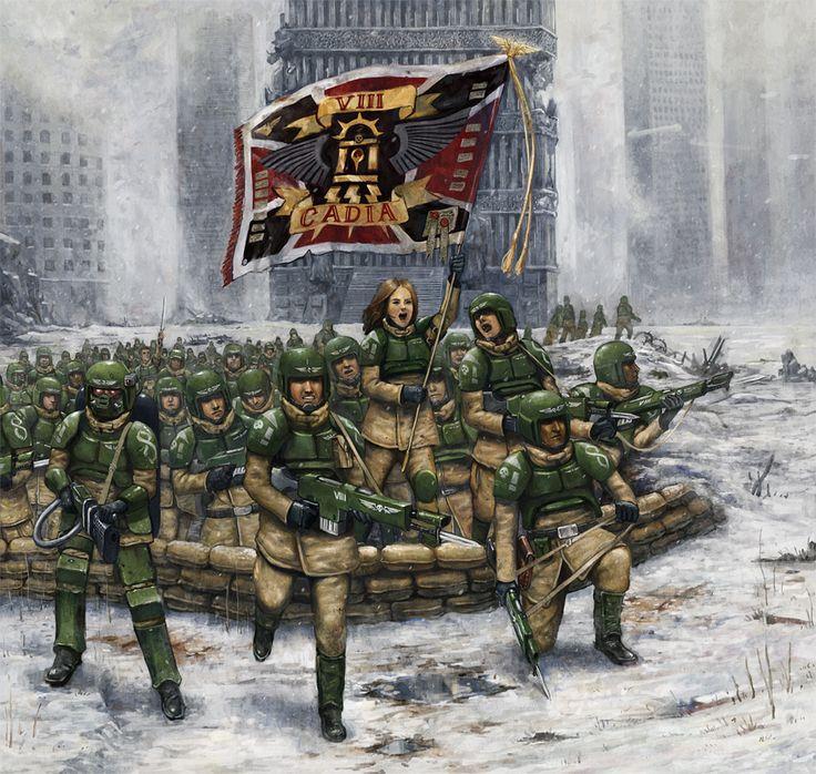 Warhammer 40k - Charging of 8th Cadia Regiment by lathander1987.deviantart.com on @deviantART