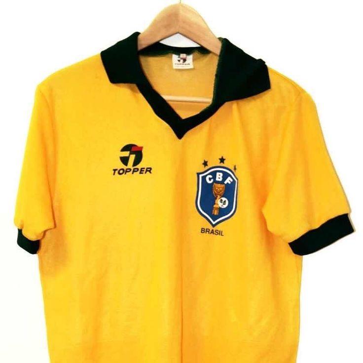 1986 Brazil shirt M  Price: 94.99 Seller: @timelessfootball #brasil #brazil #brasilfootball #brazilfootball #topper #vintagefootball #footballshirt #footballshirtcollective