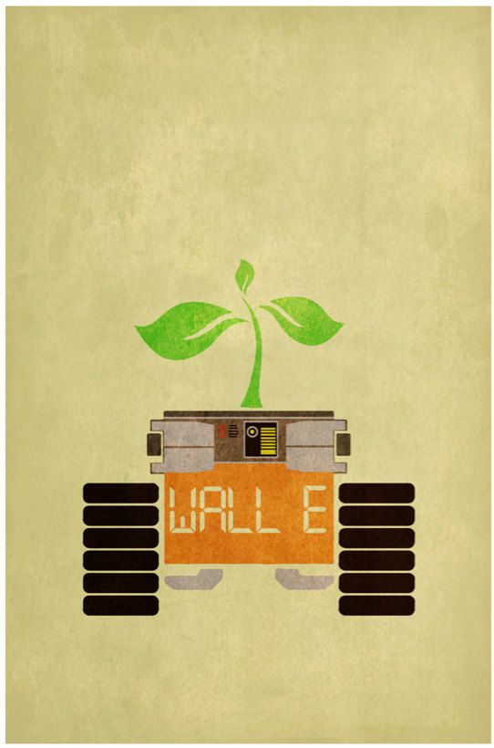 WALL·E (2008) - Minimal Movie Poster by Harshness ~ #minimalmovieposter #alternativemovieposter #harshness #pixarminimal