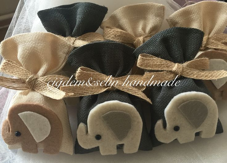 Felt elephant lavander